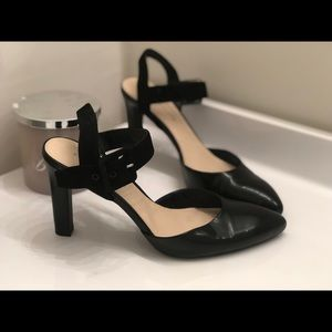 Franco Sarto pumps with ankle strap